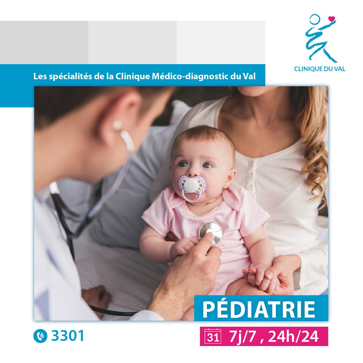 Consultation pédiatrique clinique du val